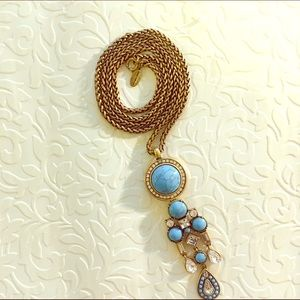 Ann Taylor turquoise necklace like new