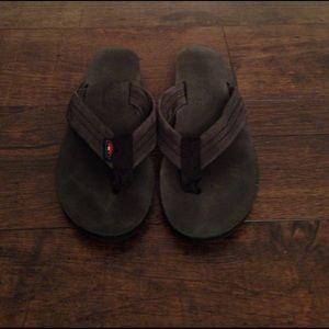 Rainbow Shoes - Women's Black Rainbow Thick Strap Sandals