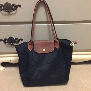 Longchamp Handbags - Longchamp Black 'Small Le Pliage' Tote