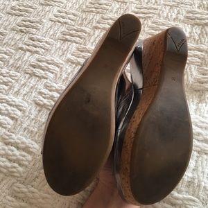 Prada Shoes - Prada Silver Corkscrew Wedge Sandals