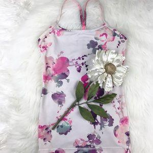 lululemon athletica Tops - 💕SALE💕Lululemon White Floral Power Y Tank Top