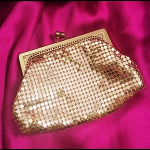 VINTAGE Whiting & Davis Gold Mesh Coin Purse