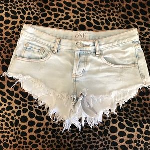 One teaspoon bonitas jean shorts