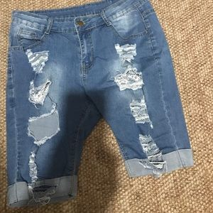 Denim - Nice and comfy stretchy like cut shorts size Large