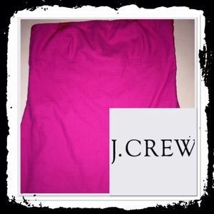 J Crew hot pink tube top
