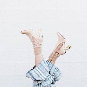 "Cape Robbin ""Candice"" Perplex Heel Boots in Nude"