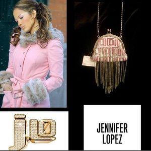 Jennifer Lopez Handbags - 🆕J Lo🌸Pink Frame Mesh🌸Chain Mini Purse