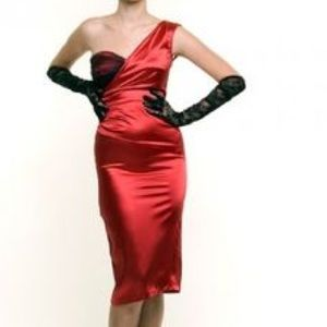 Stop Staring Dresses & Skirts - Stop Staring One Shoulder Red Dress