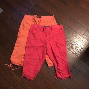 Gloria Vanderbilt Pants - Sherbert and Salmon Colored Capris