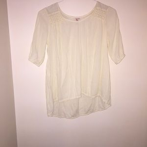 Red Camel Tops - Cream colored blouse