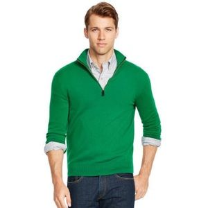 Polo by Ralph Lauren Other - NEW! Green Cashmere Half Zip Pullover Polo Sweater