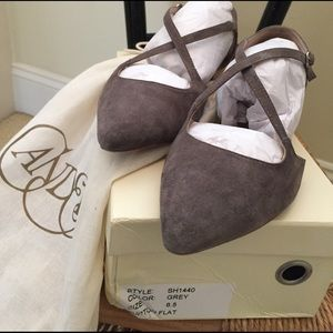 Anthropologie suede flats