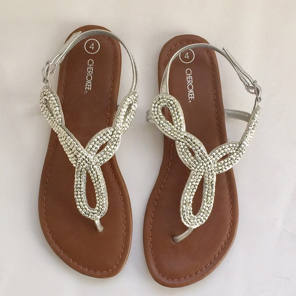 a5e8835b33f2 Cherokee Other - Girls NWOT Silver Thong Sandals by Cherokee 4