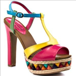 Unlisted Shoes - Multi Colored Heels