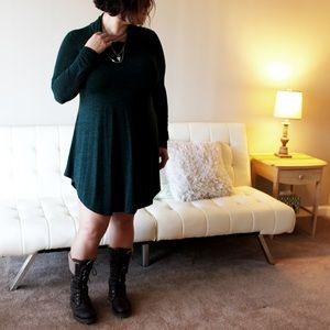 SheInside Dresses & Skirts - Dark Green Cowl Neck Curve Hem Dress (SheInside)