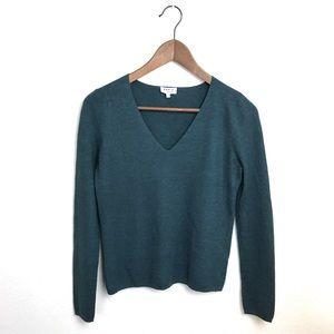 Akris Sweaters - Akris Punto Cashmere Teal V-Neck Sweater