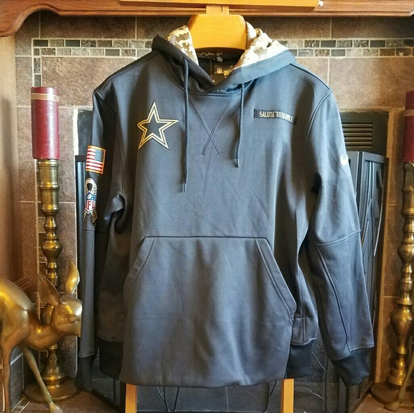 Dallas Cowboys Salute To Service Hoodie BNWT s 015352737