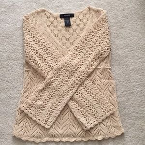 Express long-sleeved crotchet sweater, sz S