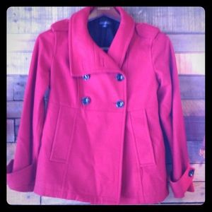 ON SALE: Red Peacoat From The Gap