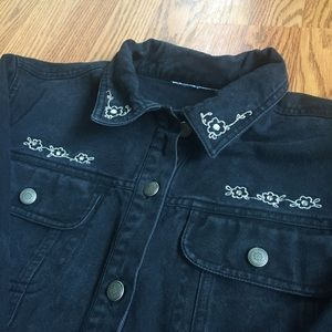 Vintage Jackets & Blazers - 90s Vintage Black Denim Jacket