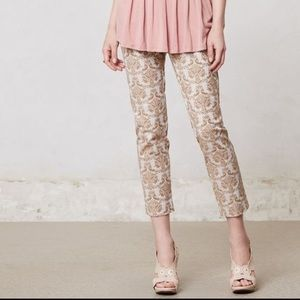 Brocade Ankle Pants