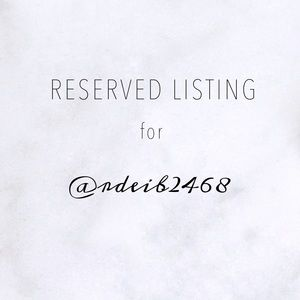 reserved listing for @rdeib2468