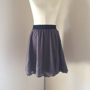 Xhilaration Dresses & Skirts - NWT gray dotted full skirt