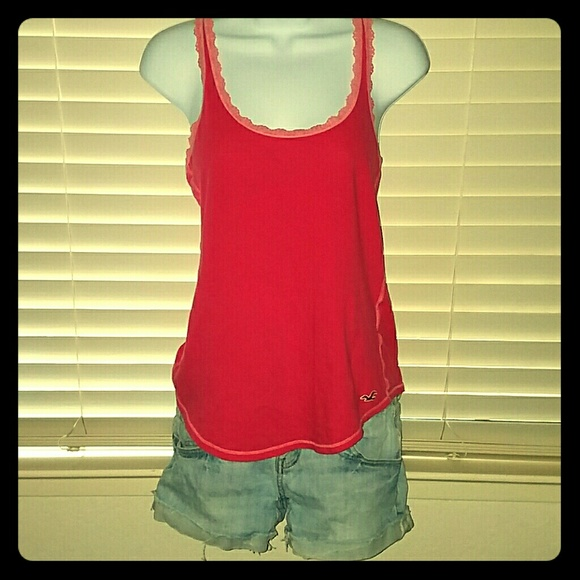 Hollister Tops - *Cute Pink Hollister Racerback Tank!*