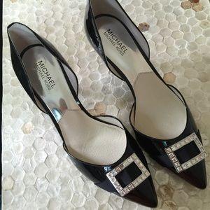 "Michael Kors Shoes - NWOB Michael Kors Black 3"" heels With front buckle"