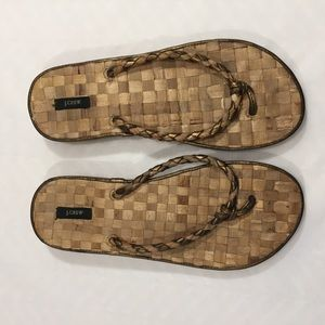 J. Crew Shoes - J. Crew Woven Straw Like Flip Flops Size 7