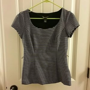 NWOT - WHBM Striped Top - Size 4