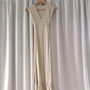 Authentic Original Vintage Style Dresses & Skirts - Original vintage linen maxi dress XS