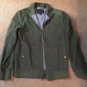 Banana Republic Other - Green zip-up fleece jacket