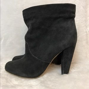 Kathryn Amberleigh gray suede leather ankle boots