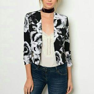 Chupchick  Jackets & Blazers - Black floral blazer .