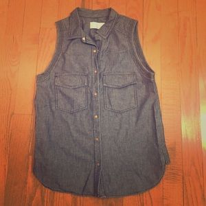 A.L.C. Tops - A.L.C. Chambray Sleeveless Blouse