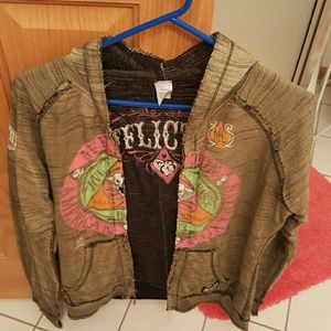 Affliction Tops - Affliction reversible zip up hoodie size large