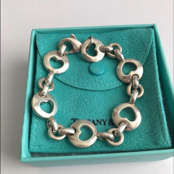 10f2c84c2355b Tiffany & Co. Rare Stencil Heart Bracelet