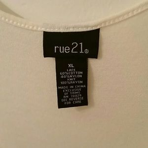 Rue21 Tops - Rue21 sheer lace tank top