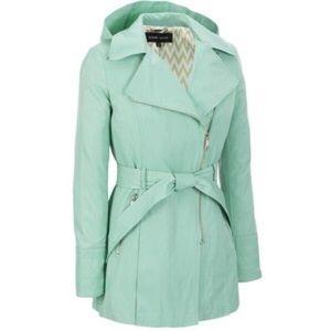 Black Rivet Jackets & Blazers - Black rivet mint green trench coat
