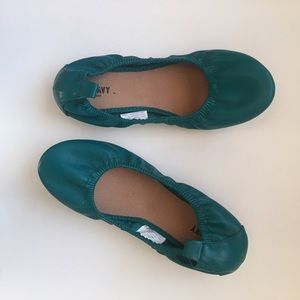 Old Navy Ballet Flats size 7 Teal/Turquoise