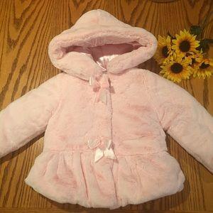 BCX Other - BCX Girl Faux fur pink coat. Size 4
