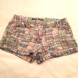 Tailor Vintage Pants - Plaid short shorts