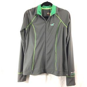 Hollister Jackets & Blazers - Hollister green/grey active jacket