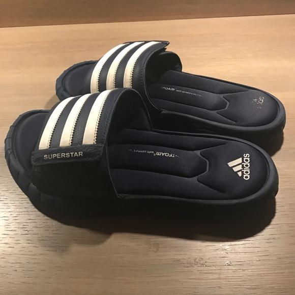 separation shoes 4f463 76ccf Adidas Other - Adidas fit foam superstar sandal slide
