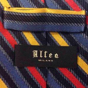 Altea Accessories - Altea Navy, Red, Gold & Blue Stripe Tie
