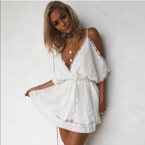 Sabo Skirt Dresses & Skirts - Sabo Skirt White Lace Dress
