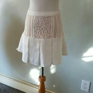 Chupchick  Dresses & Skirts - SALE! White lace detail skirt