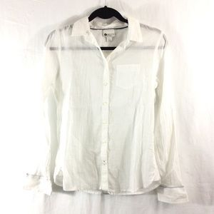 Stylus Tops - NWOT Stylus white sheer button-up