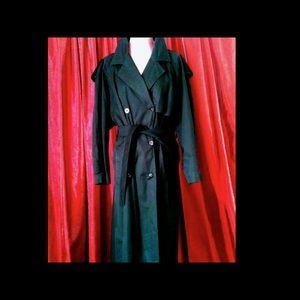 Laura Ashley Jackets & Blazers - 🇬🇧LONDON Laura Ashley Trench Coat  Vintage Sz L